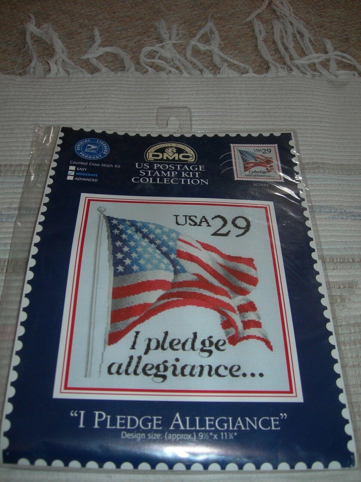 "New DMC Cross Stitch Kit ""I Pledge Allegiance"" 9 1/2"" X 11 3"