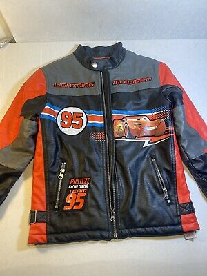 Disney Store Lightning Mcqueen Leather Jacket, Kids Size 7/8 W/ New Polo (Polo Kids Store)