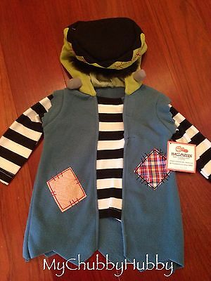 NWT Pottery Barn Kids BABY FRANKENSTEIN Halloween Costume (0-6 MO) MONSTER - Frankenstein Halloween Costume Baby