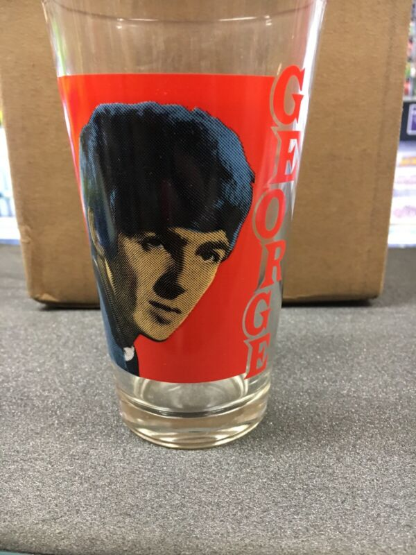 The Beatles George Harrison Glass Drinking Cup  14 Ounce