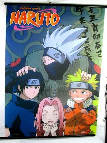 """ORIGINAL 2002 Masashi Kishimoto fabric NARUTO Poster 42"""" x 31"""""""
