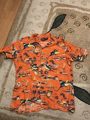 Polo Ralph Lauren Camp Hawaiian Shirt Mens SZ XL Custom - Custom Rayon Camp Shirt