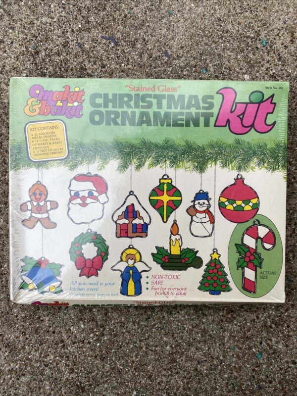 NEW! Makit & Bakit VINTAGE Christmas Ornament Sealed Box 12 Style 250