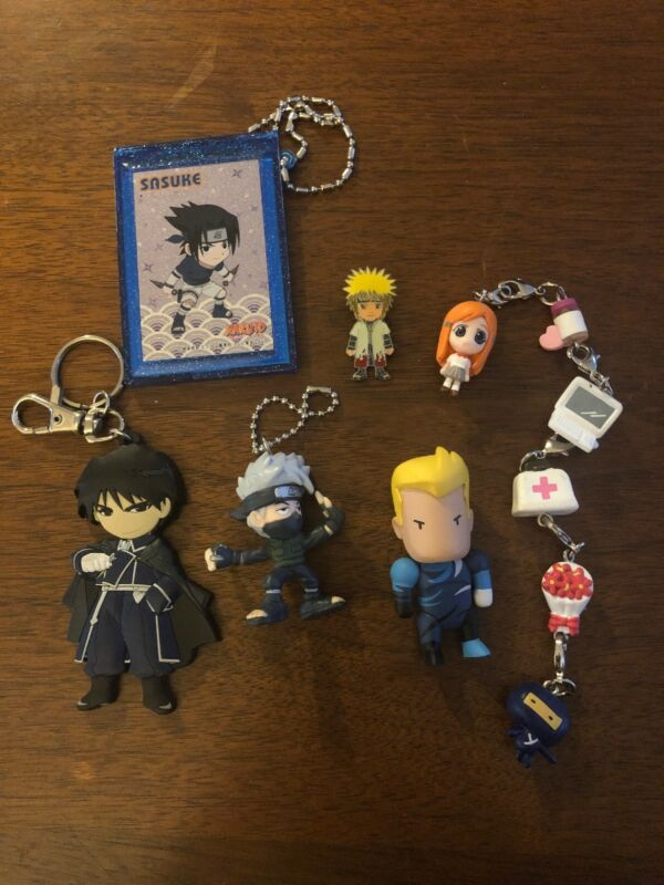 Japanese Anime Keychains And Other Charms, Naruto , Sasuke Final Fantasy
