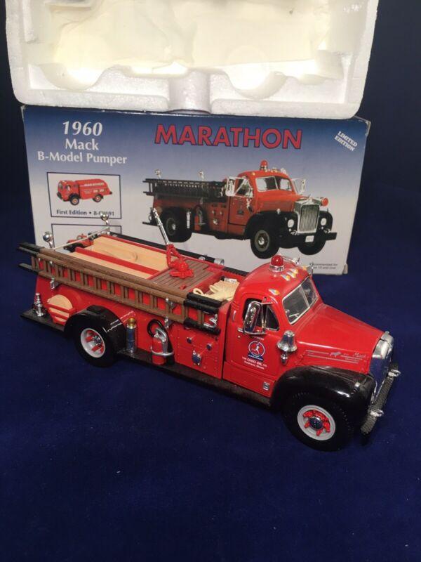 First Gear 1960 Mack B-Model Pumper Truck Ohio Oil Marathon Die Cast 19-2466