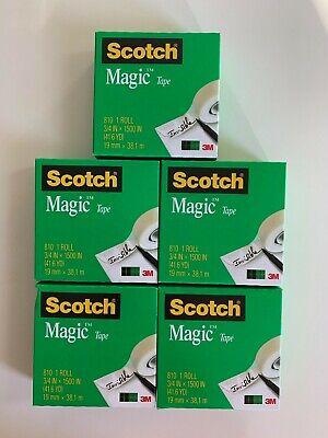 Scotch Magic Tape Refill 5 Rolls 34 X 1500 Per Roll Original Matte Finish