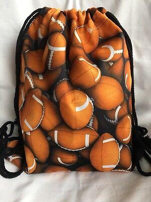 Football 🏈 Drawstring Backpack/Gym Tote Bag/Travel/Fashion/Football/sports