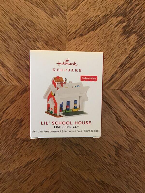 Hallmark 2019 LIL' SCHOOL HOUSE~Mini~NEW~Fisher Price~Free Shipping