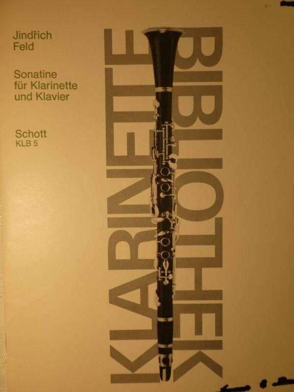 SONATINE (SONATINA)-JINDRICH FELD Bb CLARINET & PIANO  FREE SHIPPING