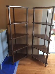Pair of 1970's Triangle Shelves