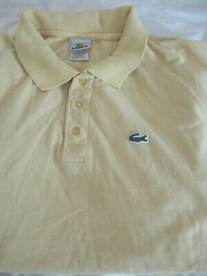 Lacoste Men's Polo Size 9 2XL SS Knit 100%Cotton Designed in FRANCE Made in Peru