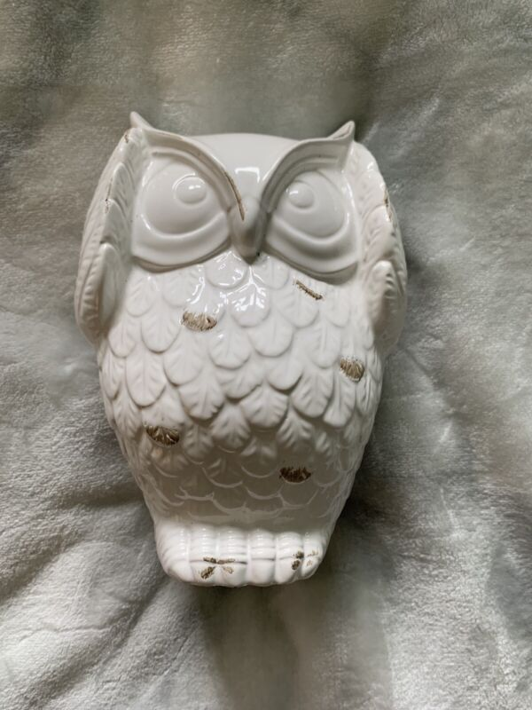 "Ceramic 7"" White Owl Sculpture"