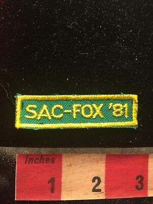 Vtg 1981 SAC-FOX '81 Oklahoma Tab Patch (Sac & Fox Indian Nation) 70WM