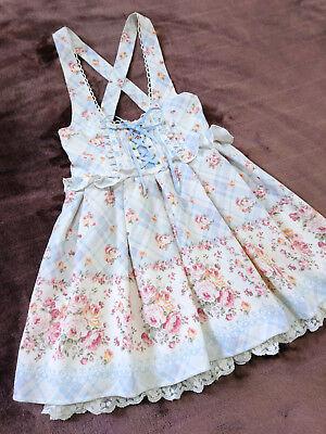 LIZ LISA Jumper skirt Dress JapanM Floral bouquet Hime&Lolita LL-Gals Ltd model