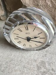 Mikasa Crystal Quartz Desk/Mantle Clock Vintage Made in Germany NICE