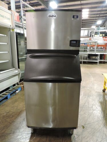 Manitowoc ID0453W & B570 Commercial Water Cooled Cube Ice Machine & Storage Bin