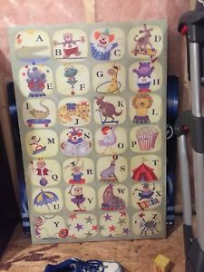 Large alphabet canvas picture