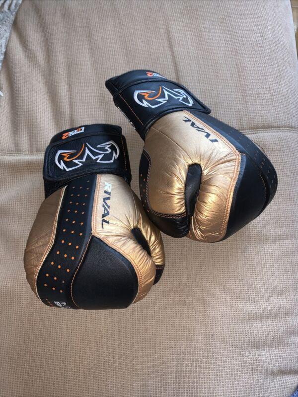 Rival RB10 D3o Boxing Bag Gloves, Large - GOLD