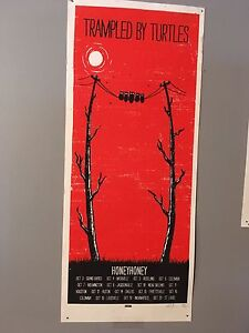 Trampled by Turtles official tour limited edition poster