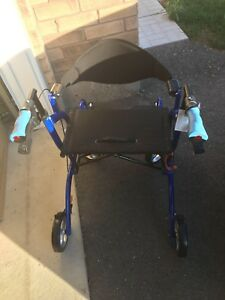 2 in 1 rollator and transfer chair