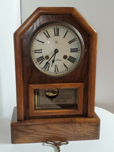 VINTAGE SETH THOMAS COUNTRY COTTAGE OAKWOOD CLOCK