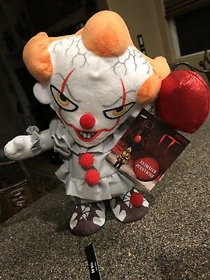 "IT PENNYWISE CLOWN ANIMATED WALKING & TALKING COLLECTIBLE DOLL 13"" TALL for sale  Shipping to Canada"