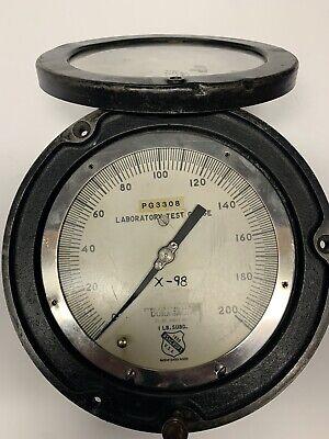 Vintage Ashcroft Duragauge 200 Lb Laboratory Test Gauge X-98 Pg3308 Steampunk