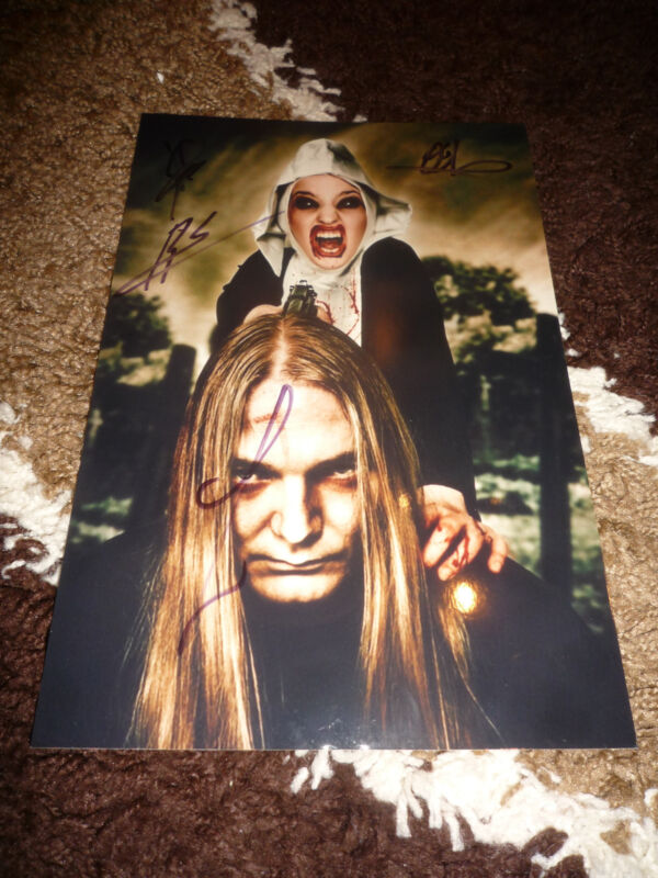 LEGION OF THE DAMNED signed 8x12 inch autographed Photo InPerson in Germany