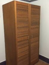 Solid Timber Louvre Door Wardrobe Naremburn Willoughby Area Preview