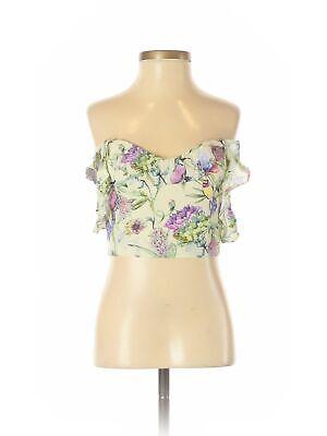 H&M Women Yellow Sleeveless Top 2