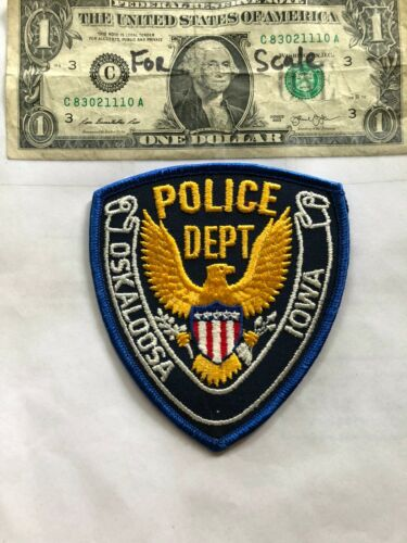 Oskaloosa Iowa Police Patch Un-sewn great shape