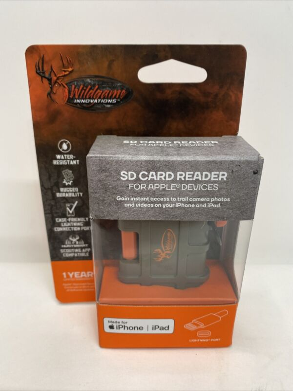 Wild Game Innovations SD Card Reader For Iphone iPad Trail Cam Card Reader Apple