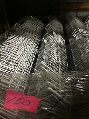 Lot 10 Grid Wall Pegboard Slat Wall White Wire Shelves 48 In 47 12 Inch