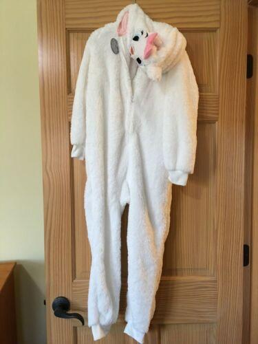 New Disney store Marie Costume Sleeper Zip Up Pajama Kids 5/6