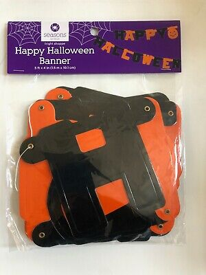 Happy Halloween Garland ( Happy Halloween Garland Banner teacher supply party decor trick or treat 5')