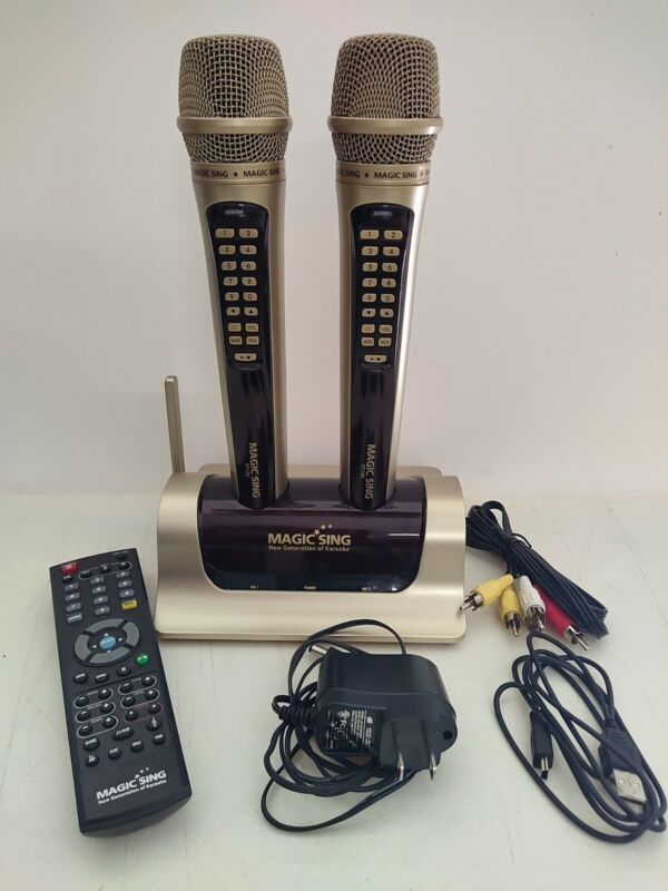 Magic Sing Karaoke ET18K Digital Wireless Microphone TESTED WORKS
