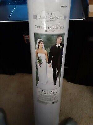 White Fabric Wedding Aisle Runner