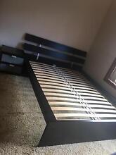 IKEA black queen bed bedroom suite Belrose Warringah Area Preview