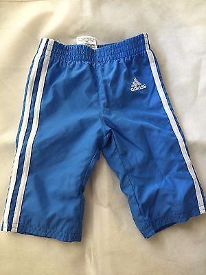 Toddler Children Adidas Warm-Up Pants, Light Blue, 3 stripes, 6 Months 6M GYM