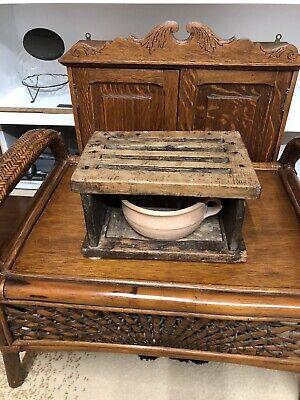 Antique Primitive Unique Wooden Foot Warmer