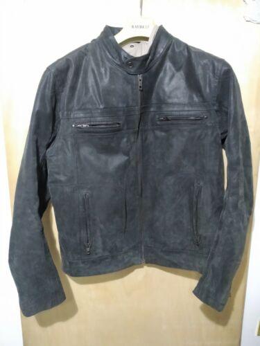 Giacca Pelle Uomo Tg. XXL Con Cappuccio Man Leather Jacket Come Nuova - 19,90€