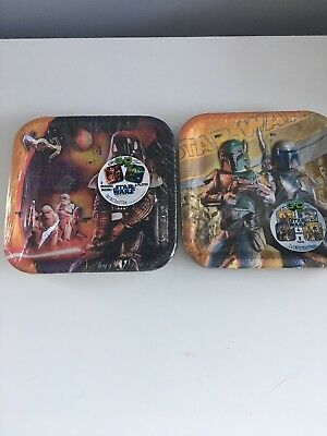 Star Wars 16 paper Plates & Yoda plush toy set Party supplies ()