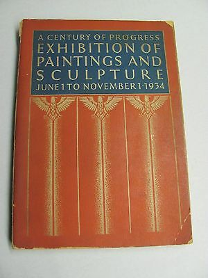 """1934 """" Exhibition of Paintings and Sculpture """" World's Fair Book 1st Edition"""