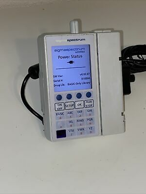 Baxter Sigma Spectrum Infusion Pump V6.02.07 Patient Ready New Ac Adapter Bg
