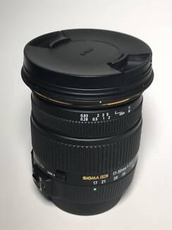 Nikon mount - Sigma 17-50mm F/2.8 EX DC OS HSM lens