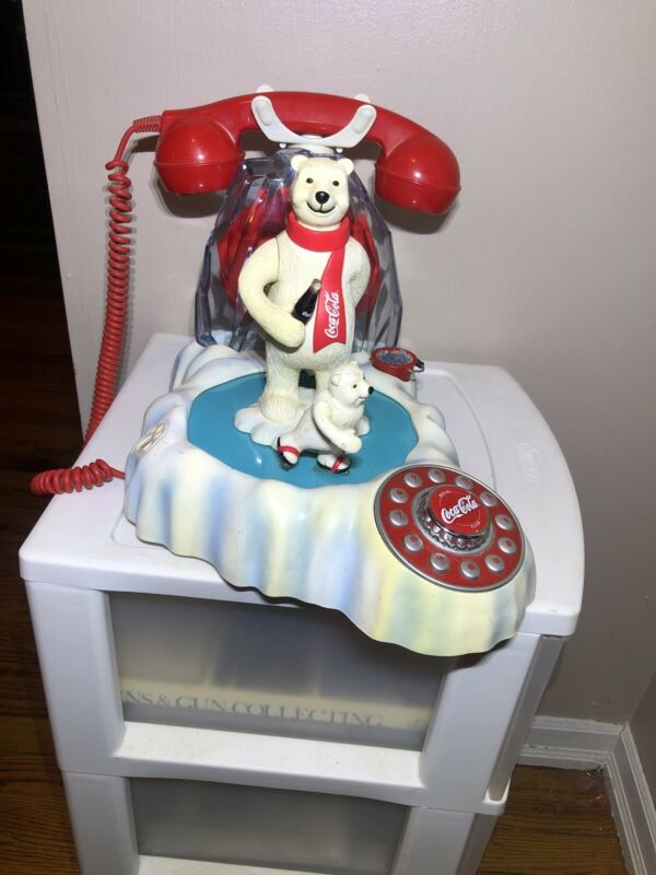 2000 COCA-COLA ANIMATED MUSIC POLAR BEAR PHONE LIGHT-UP