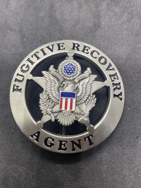 United States Bail And Fugitive Recovery Agent  Plated Badge