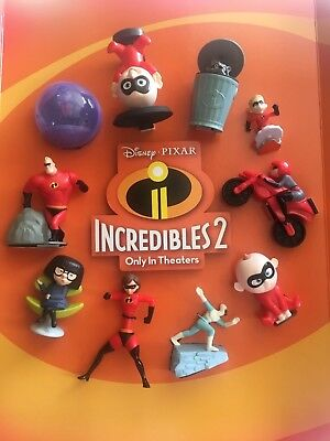 2018 Mcdonalds Incredibles 2 Happy Meal Set 10 Pc Sealed In Hand W  Bonus