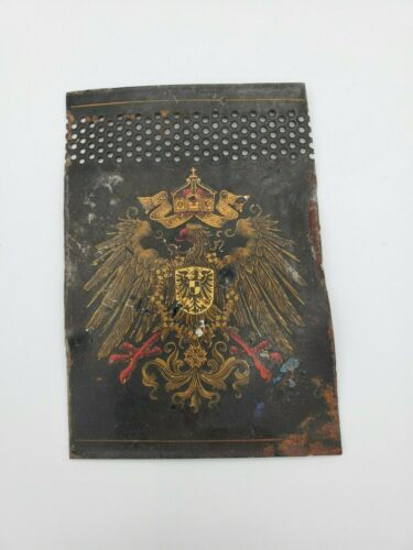 WW1 German Kingdom of Prussia Crest Eagle flag coat of arms flag old war metal