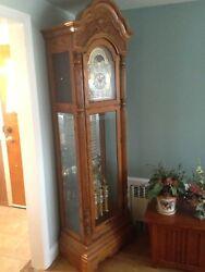 Howard Miller Oak Grandfather Clock